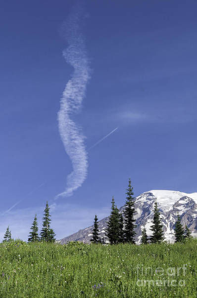 Photograph - Jet Over Rainier by Sharon Seaward