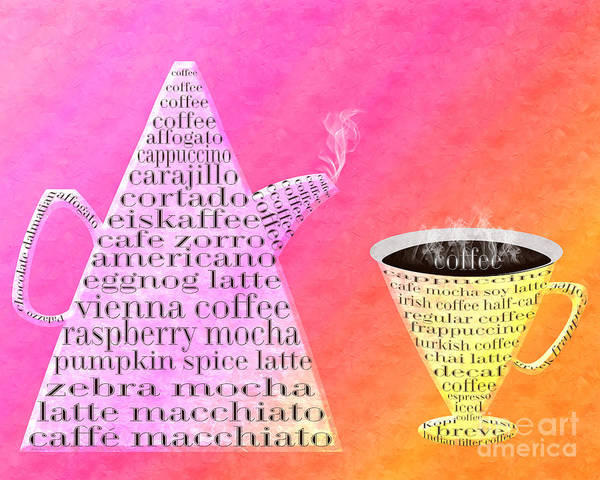 Digital Art - Jetsons Coffee Set Sorbet by Andee Design