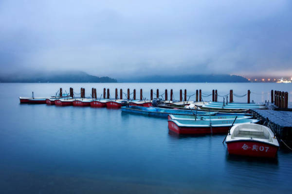 Photograph - Jetty At Sun Moon Lake by Yew Kwang