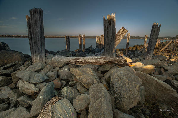 Photograph - Jetty Ruins....  Bandon Oregon by Tim Bryan