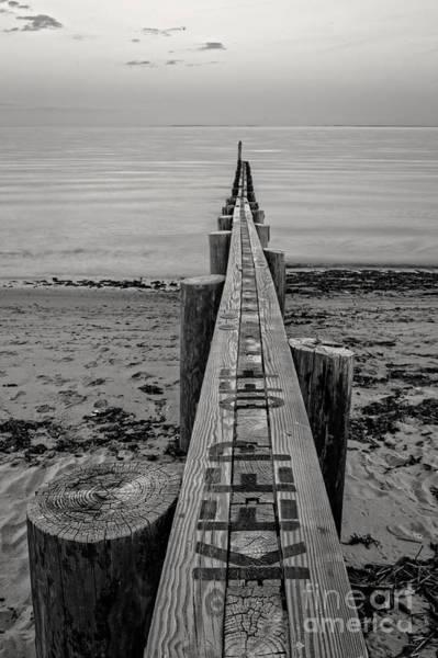 Photograph - Jetty Seawall Westbrook Connecticut by Edward Fielding