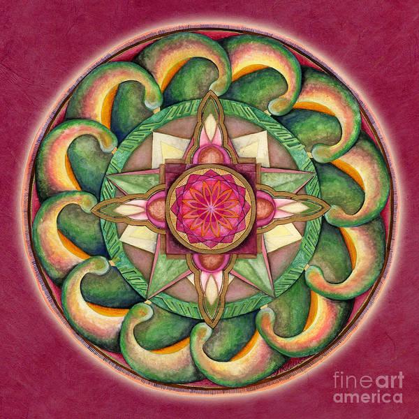 Painting - Jewel Of The Heart Mandala by Jo Thomas Blaine