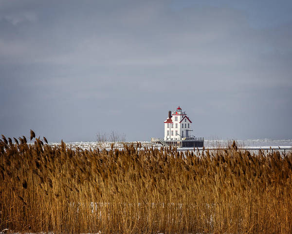Photograph - jewel of the Port Lorain Lighthouse by Jack R Perry