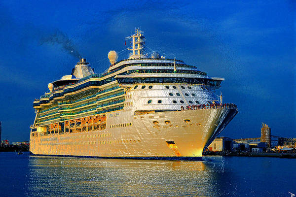 Port Of Tampa Wall Art - Painting - Jewel Of The Seas by David Lee Thompson