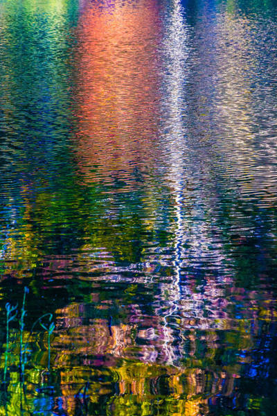Photograph - Jeweled Reflection 2 by Karen Saunders