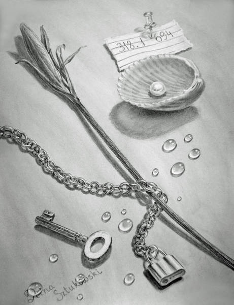 Drawing - Jewels Of Love by Irina Sztukowski