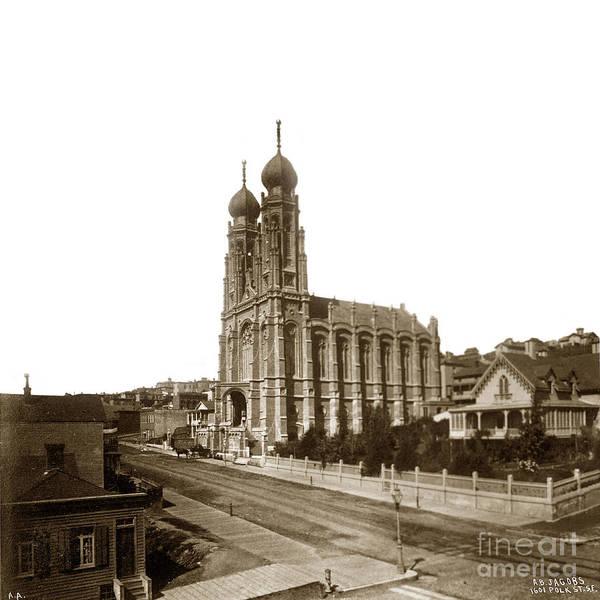 Photograph - Jewish Synagogue Congregation Emanu-el Sutter Street San Francisco 1866 by California Views Archives Mr Pat Hathaway Archives