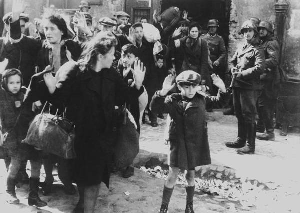 Holocaust Photograph - Jews Captured By German Soldiers by Everett