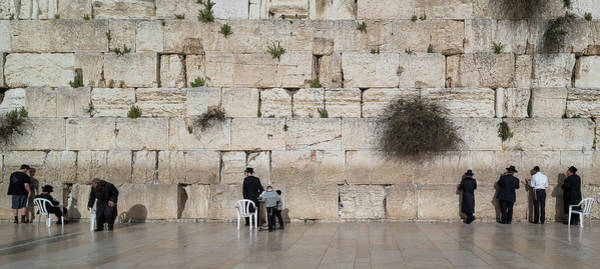 Old Jerusalem Photograph - Jews Praying At Western Wall by Panoramic Images