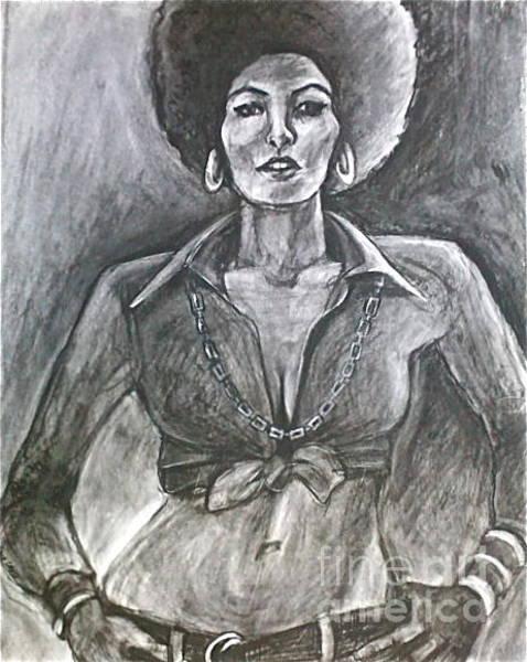 Drawing - Jezebel by Gabrielle Wilson-Sealy