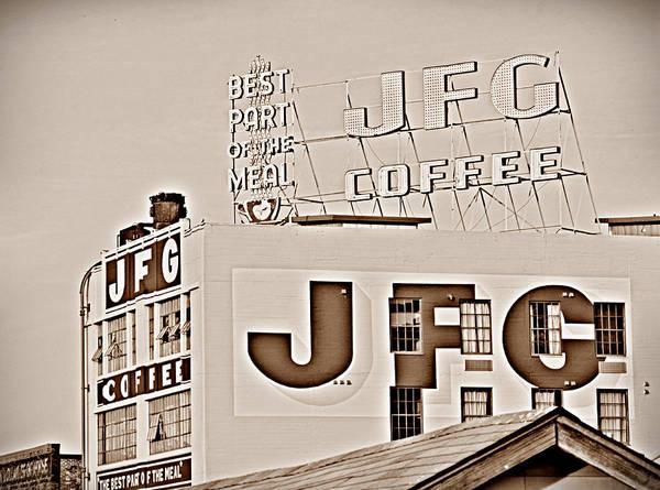 Photograph - Jfg Coffee Sign by Sharon Popek