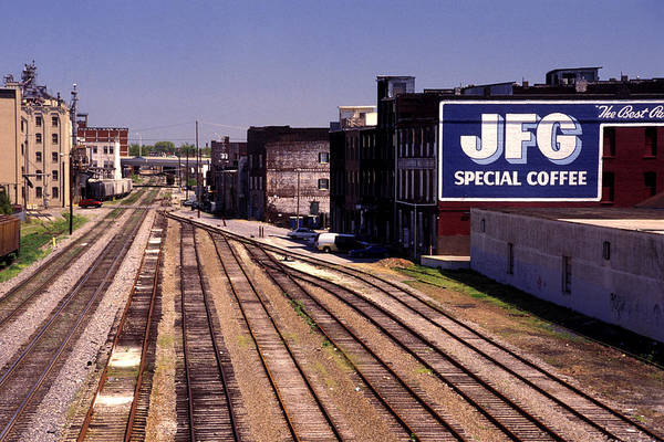 Wall Art - Photograph - Jfg Coffee And Knoxville Tn Old Town Freight Yards by Paul W Faust -  Impressions of Light
