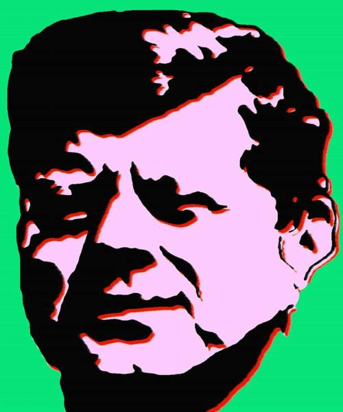 Painting - John F Kennedy - Jfk Pink Green Pop Art by Peter Potter