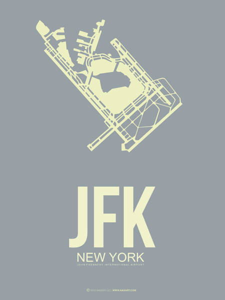 York Digital Art - Jfk Airport Poster 1 by Naxart Studio