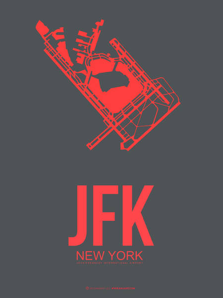York Digital Art - Jfk Airport Poster 2 by Naxart Studio