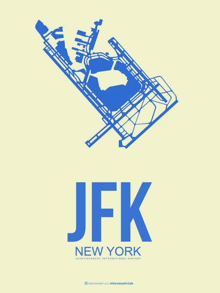 Times Square Digital Art - Jfk Airport Poster 3 by Naxart Studio