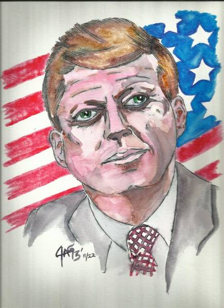 Painting - JFK by The GYPSY