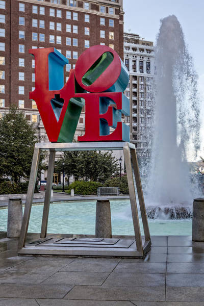 Photograph - Jfk Plaza Love Park by Susan Candelario