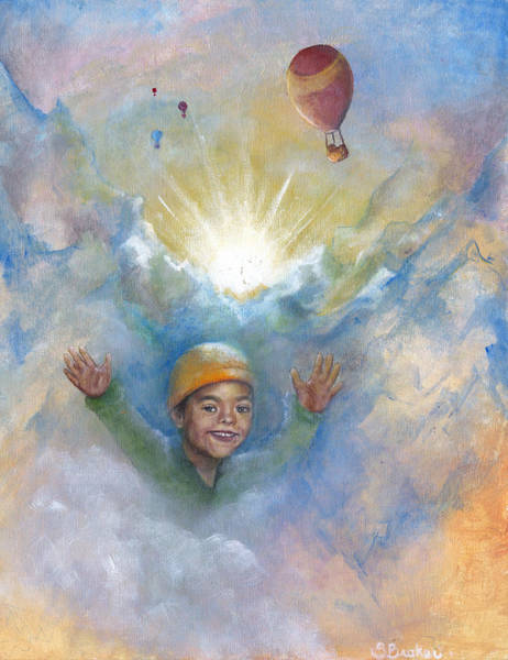 Painting - Jhonan And The Hot Air Balloons by Stephanie Broker