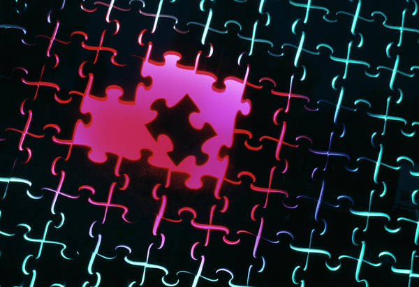 Wall Art - Photograph - Jigsaw Puzzle by Jerry Mason/science Photo Library
