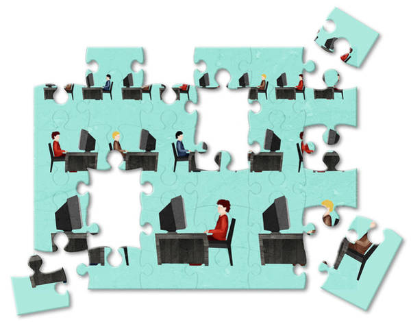 Wall Art - Photograph - Jigsaw Puzzle Of Businessmen by Fanatic Studio / Science Photo Library