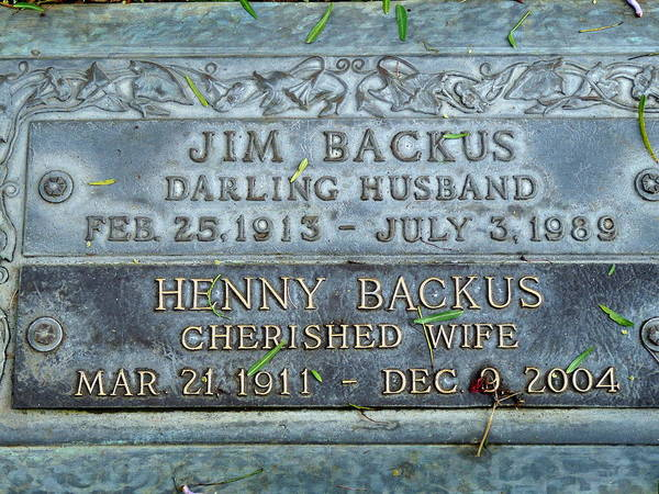 Photograph - Jim Backus Grave by Jeff Lowe