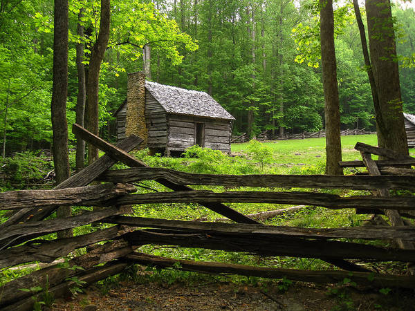 Photograph - Jim Bales Cabin, Great Smoky Mountains National Park by Doug McPherson
