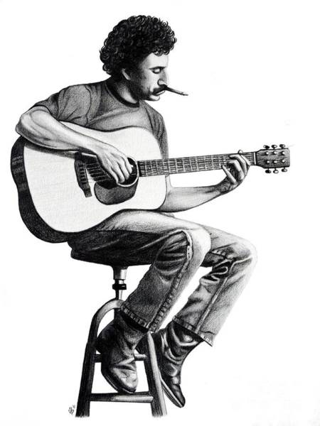 Famous People Drawing - Jim Croce by Danielle R T Haney