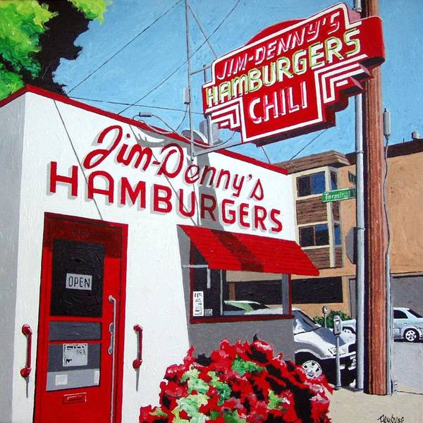 Wall Art - Painting - Jim-dennys No. 4 by Paul Guyer