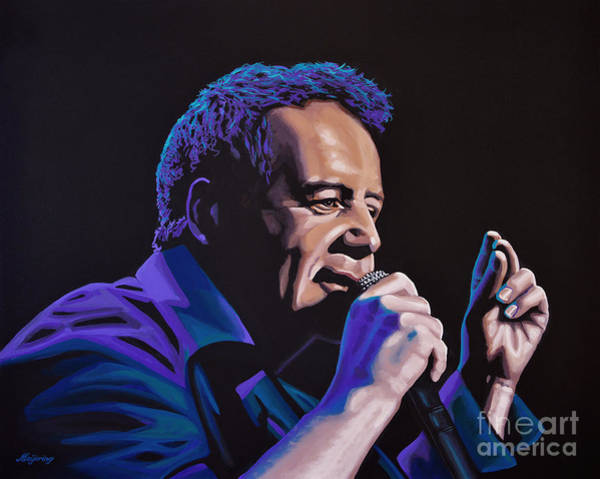Entertainer Painting - Jim Kerr Of The Simple Minds Painting by Paul Meijering