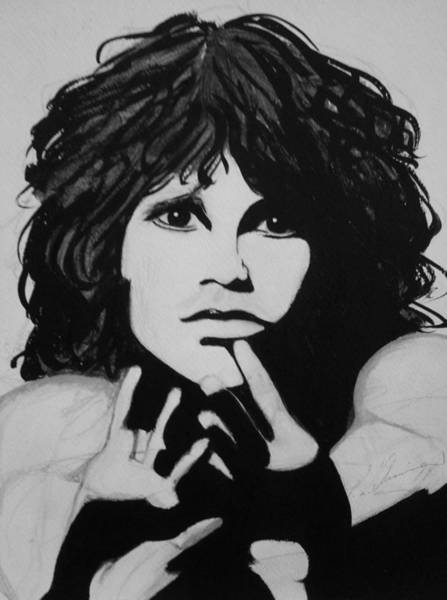 Painting - Jim Morrison by Patricia Brewer-Cummings
