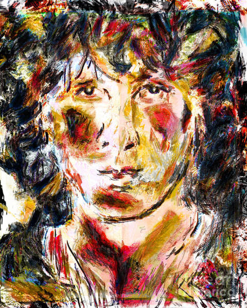 Classic Rock Mixed Media - Jim Morrison Art by Ryan Rock Artist