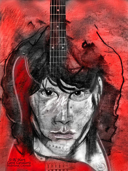 Mixed Media - Jim Morrison by Carol Cavalaris