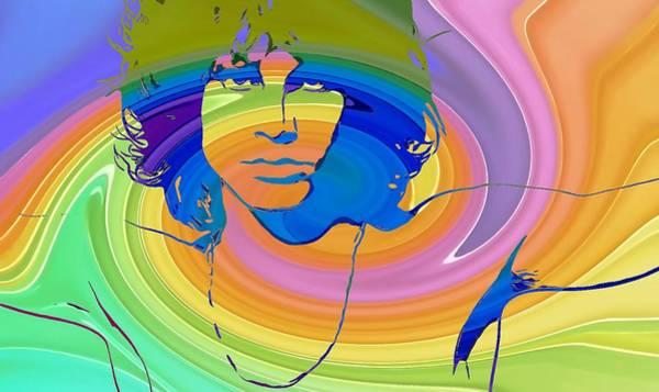 End Times Digital Art - Jim Morrison Color Warp by Dan Sproul