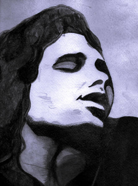 Jim Richards Photograph - Jim Morrison In Watercolor by Lisa Richards
