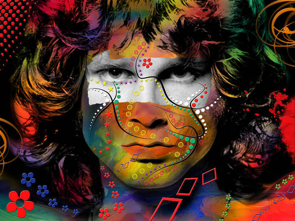 Being Digital Art - Jim Morrison by Mark Ashkenazi