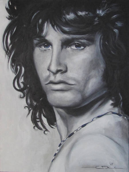 Painting - Jim Morrison - Notes by Eric Dee