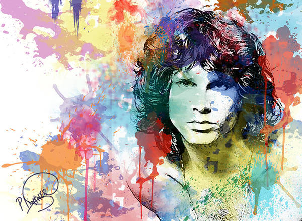 Strange Digital Art - Jim Morrison by Patricia Lintner