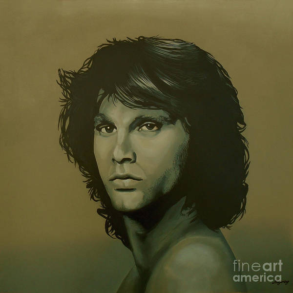 Sepia Painting - Jim Morrison Painting by Paul Meijering