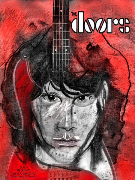Mixed Media - Jim Morrison - The Doors by Carol Cavalaris