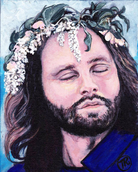 Painting - Jim Morrison by Tom Roderick