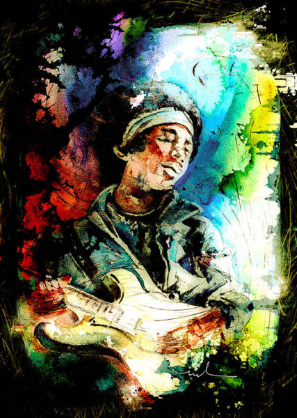 Painting - Jimi Hendrix 02 Madness by Miki De Goodaboom