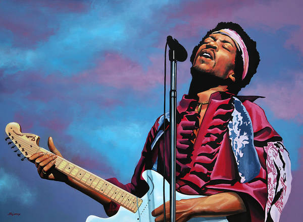 Guitarist Wall Art - Painting - Jimi Hendrix 2 by Paul Meijering
