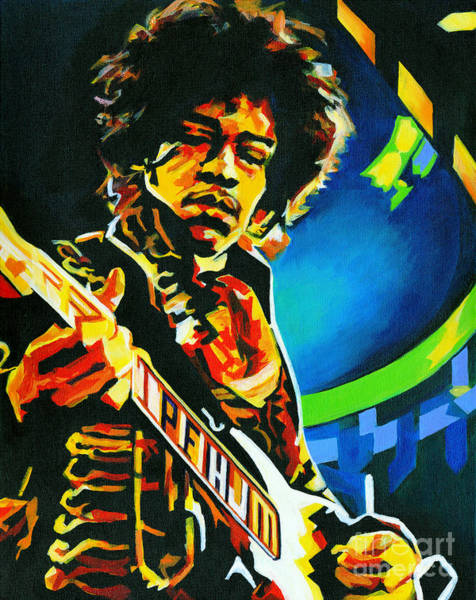 Painting - Bold As Love. Jimi Hendrix  by Tanya Filichkin