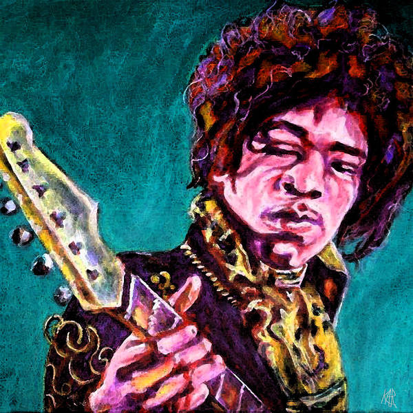 Art by Kar - Jimi Hendrix Digital Painting