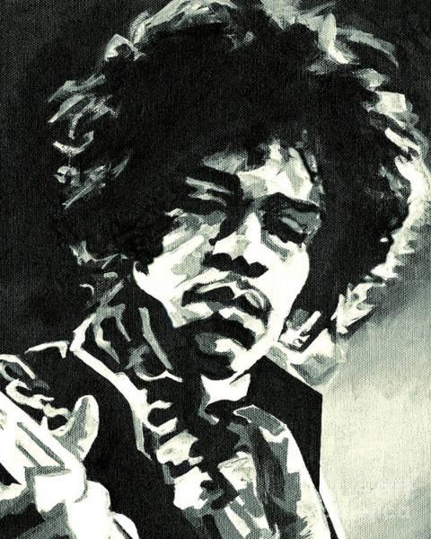 Painting - Jimi Hendrix by Tanya Filichkin