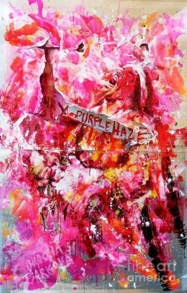 Wall Art - Painting - Jimi Hendrix by Massimo Chioccia