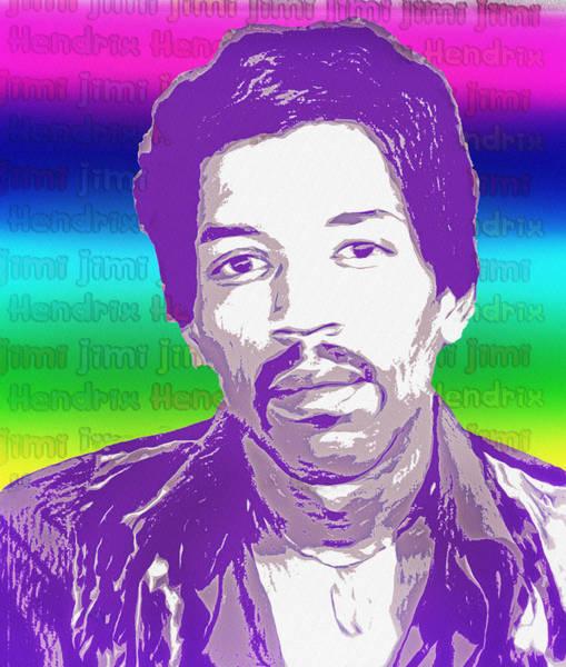Wall Art - Photograph - Jimi Hendrix Mugshot Psychedelic Poster by Bill Cannon
