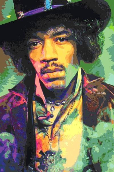 Progressive Rock Painting - Jimi Hendrix Portrait by Dan Haraga
