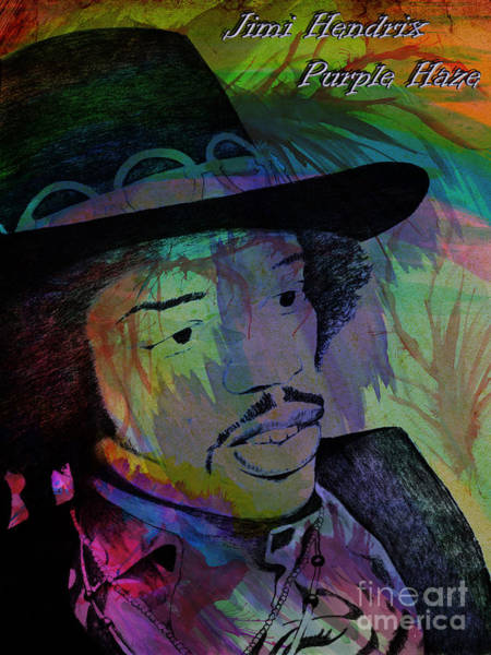 Photograph - Jimi Hendrix Purple Haze by Gary Keesler